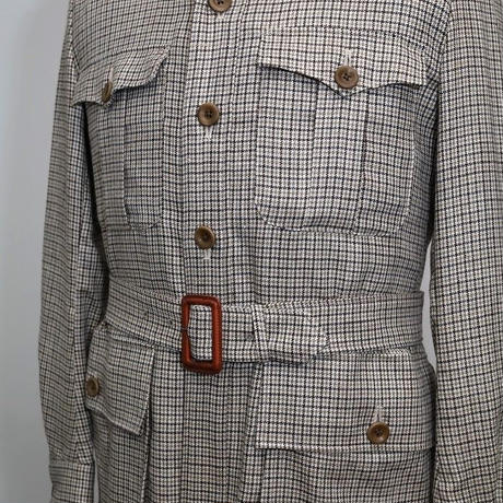 Safari Jacket/Beige Gun Club Check