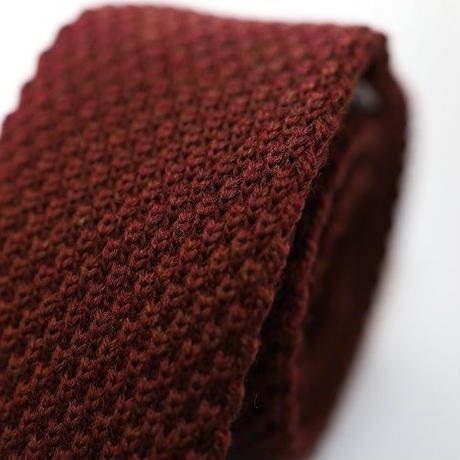 Wool Knit Tie/Bordeaux