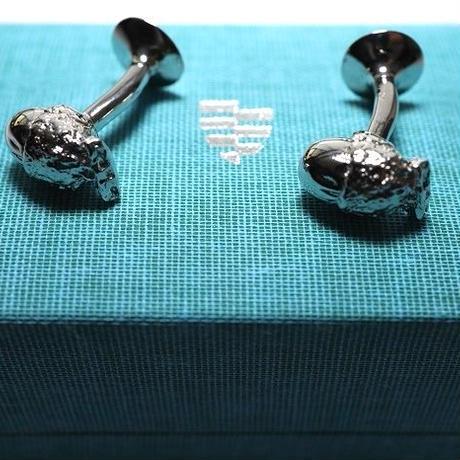 Codis Maya Cuff Links/Acorn Button Rhodium