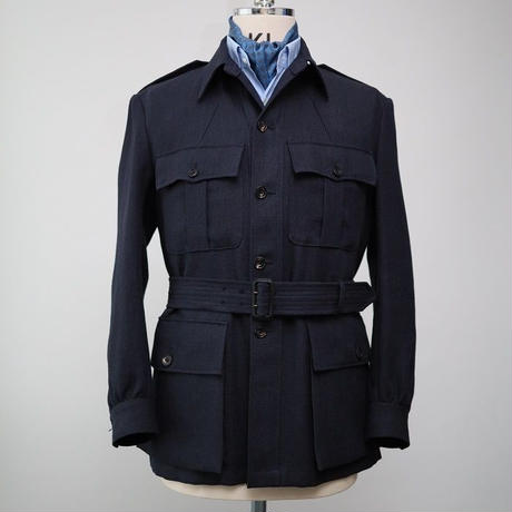 Safari Jacket/Navy Linen