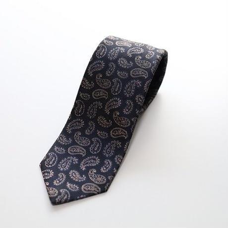 Jacquard Tie/Navy Paiseley