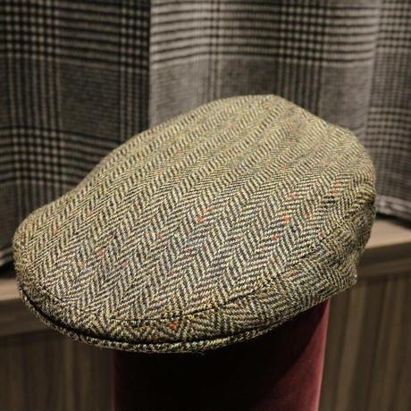 batak Tweed Cap /Green Herringbone