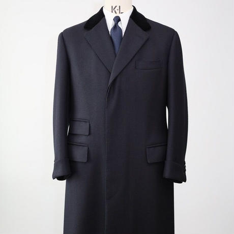 Chesterfield Coat/Navy Herringbone