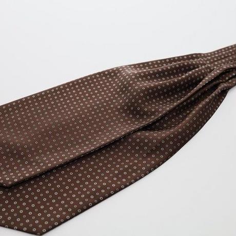 Adamley Ascot Tie/Brown Pattern