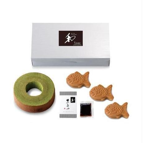 和-なごみ- もっちり鯛饅頭&黒蜜がけ京都宇治抹茶バウム