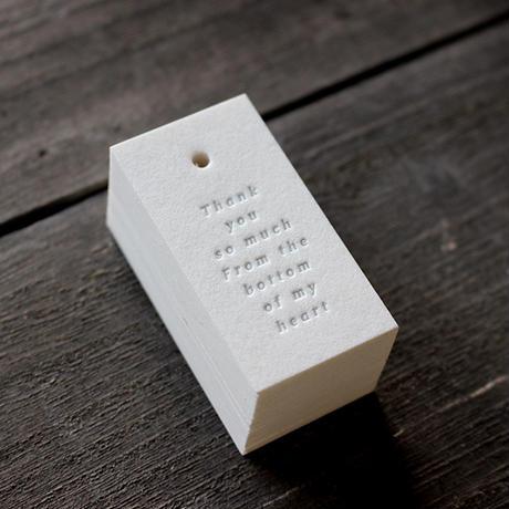 サンキュータグ【50枚】※活版印刷 (25×48mm)
