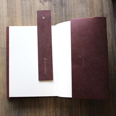 シットーリ・ブックカバー(文庫本:折込タイプ:マルーン)
