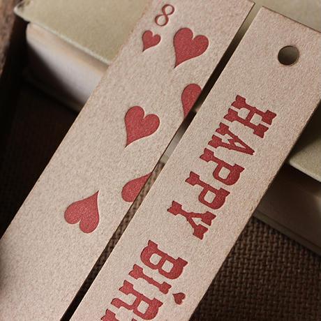 トランプ柄とHAPY BIRTHDAY(red)のブックマーク (しおり)