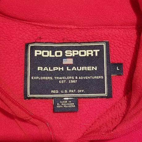 "1990's ""Polo Sport"" Half-Zip Fleece Jacket SIZE : L位"