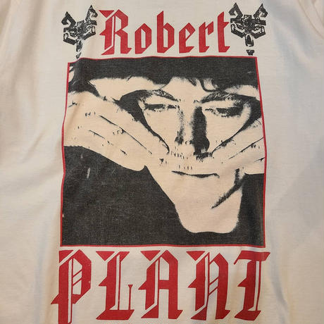"""1990's """"Robert Plant"""" Fate Of Nations Short Sleeve Tee SIZE : L"""