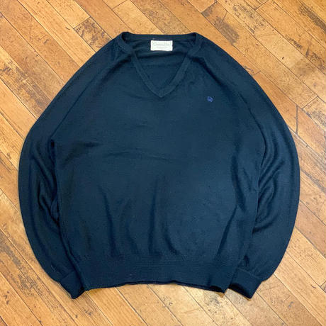 """Christian Dior"" V-Neck Acrylic Sweater SIZE : L"
