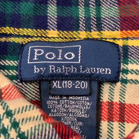 "1990's ""Polo by Ralph Lauren"" Flannel Shirt SIZE : L"