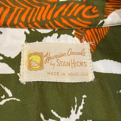 "1960's ""STANHICKS"" Hawaiian Shirt SIZE : L"