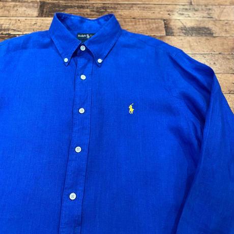 """""""Ralph Lauren"""" Long Sleeve Linen Shirt SIZE : L"""