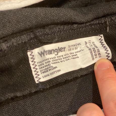 "1990's ""Wrangler"" 31MWZWK SIZE : W33 L31.5"