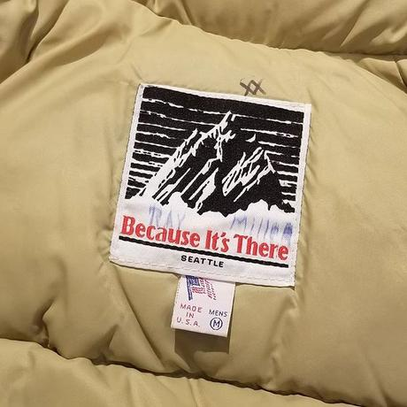 """1980's """"Because It's There"""" Down Jacket SIZE : L"""