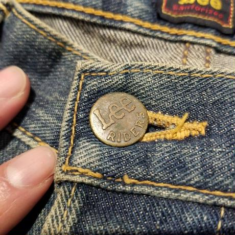"""1940's """"Lee"""" RIDERS BUTTOM FLY DENIM PANTS SIZE : W34 L31"""