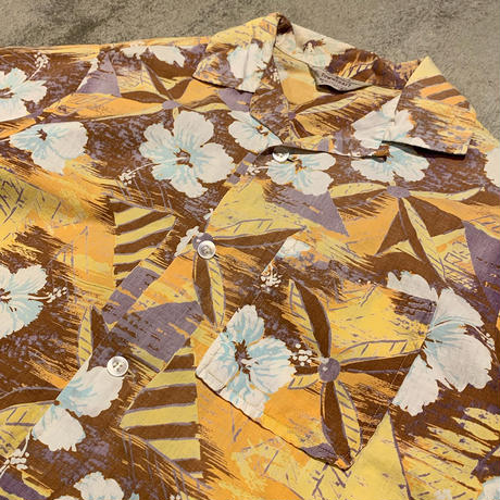 "1960's ""TOWNCRAFT"" Hawaiian Shirt SIZE : L"