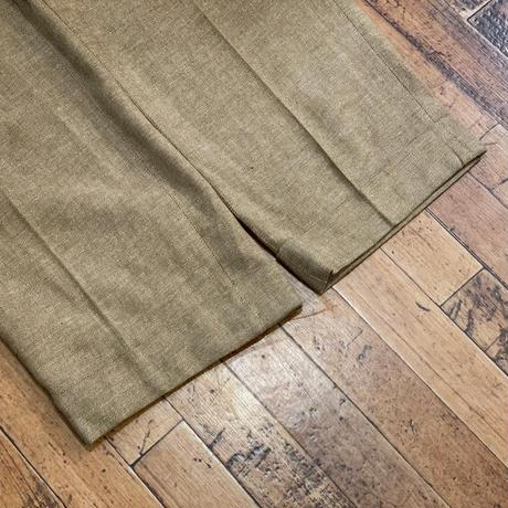 """1990's """"Polo by Ralph Lauren"""" Cotton × Linen 2 Tack Slacks SIZE : W34 L31.5"""
