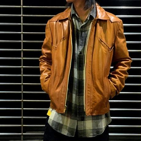 "1970's ""East West"" Leather Jacket SIZE : 42"