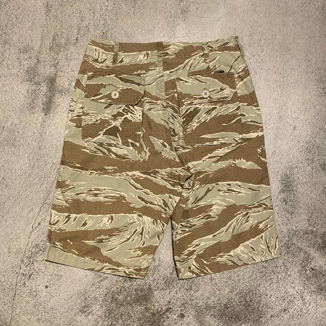 "2000's ""Stussy"" Tiger Camouflage Pattern Short Pants Made In U.S.A SIZE : W29"