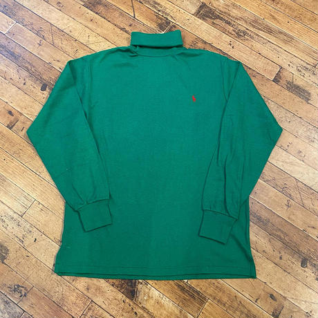 """1990's """"Polo by Ralph Lauren"""" Turtle-Neck Tee SIZE : L"""