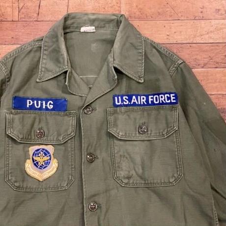 "1960's ""U.S.Military Utility Shirt SIZE : 15 1/2"