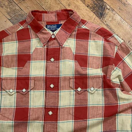 """1990's """"Ralph Lauren"""" Western Shirt SIZE : L"""