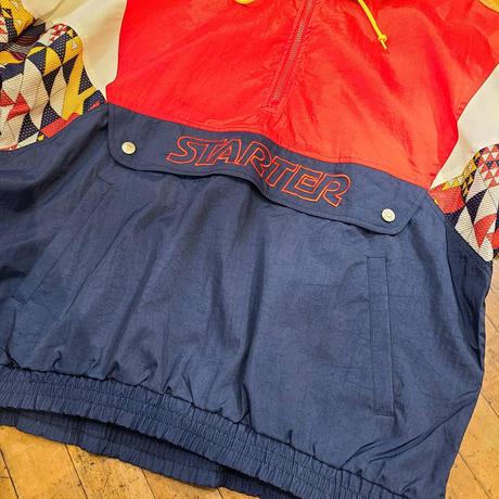 "1990's ""STARTER"" Nylon Anorak Parka SIZE : XL"