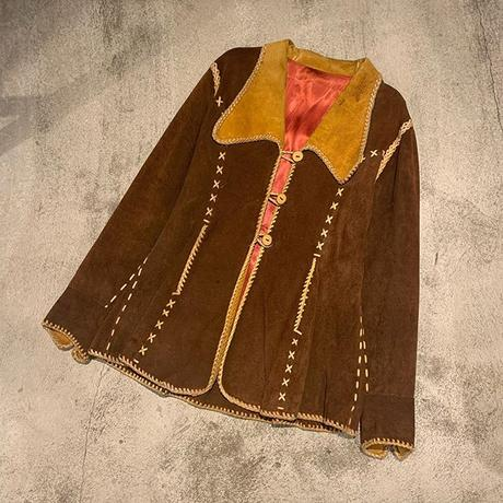 "1970's ""Unknown""c  North Beach Style Suede Jacket  SIZE : M"
