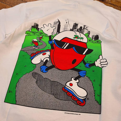 """1990's """"7UP"""" Short Sleeve Tee Dead Stock SIZE : L"""