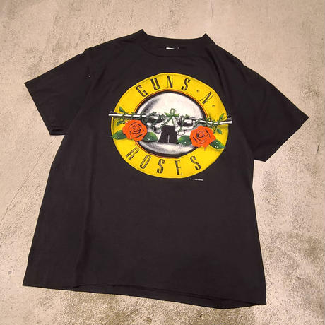 "1980's ""GUNS N ROSES"" Was Here Tee SIZE : M"