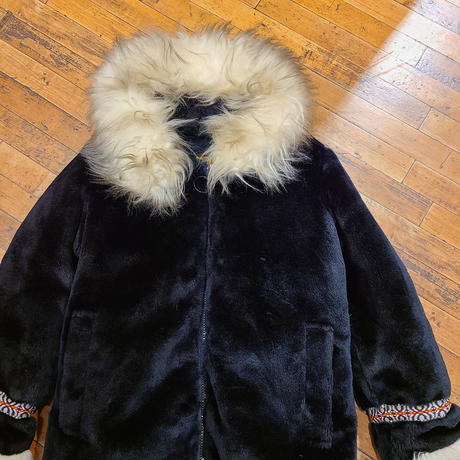 "1970's ""STEARNS"" Fake fur Jacket SIZE : M"