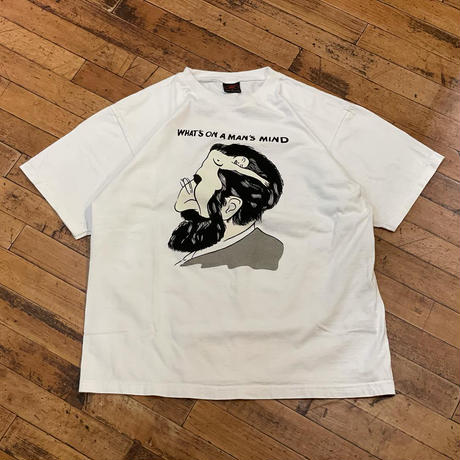 """""""WHAT'S ON A MAN'S MIND"""" Short Sleeve Tee SIZE : M.L"""