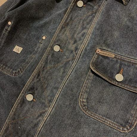 "〜2000's ""Clavin Klein Jeans"" Coverall Jacket Made In U.S.A SIZE : XL位"