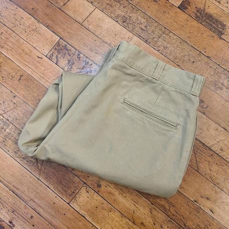 "1960's ""U.S.Army"" Chino Pants SIZE : W34 L28.5"