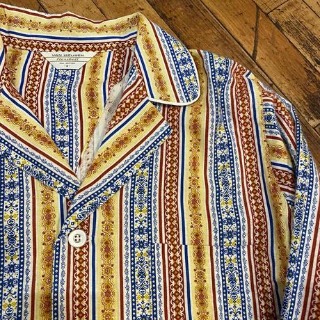 "1970's ""Van Heuson"" Pajama Shirt Dead Stock SIZE : M"