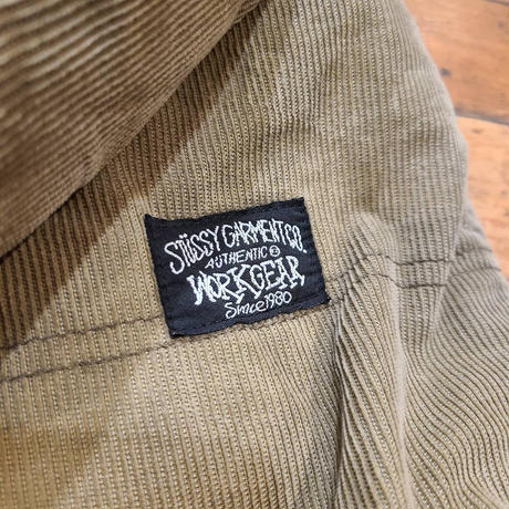 "2000's ""STUSSY"" Authentic Work Gear Corduroy Coverall SIZE : M~L"