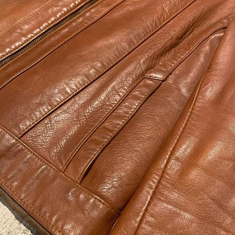 "1970's ""Unknown"" Leather Jacket SIZE : L"