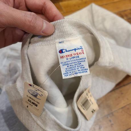 "1990's ""Champion"" Reverse Weave Dead Stock SIZE : XL"
