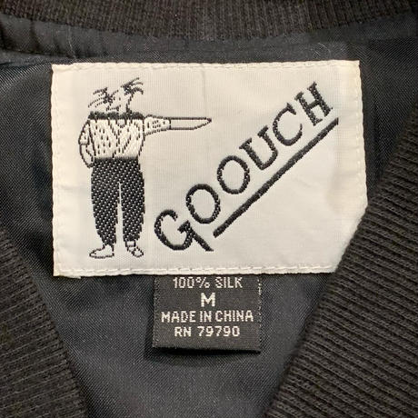 """1990's """"GOOUCH"""" Silk Jacket SIZE : L"""