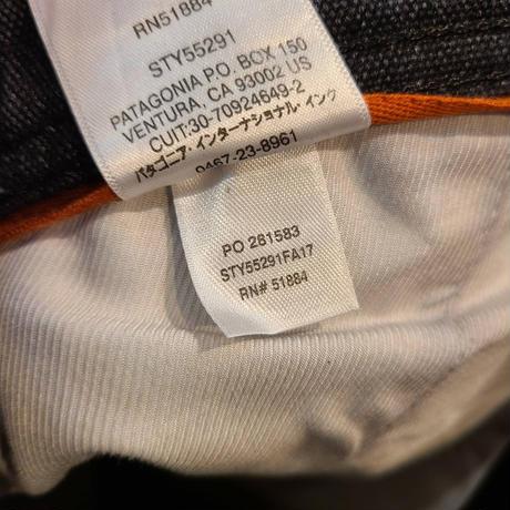 """Patagonia"" Hemp Canvas Double Knee Pants SIZE : W30.5 L30"