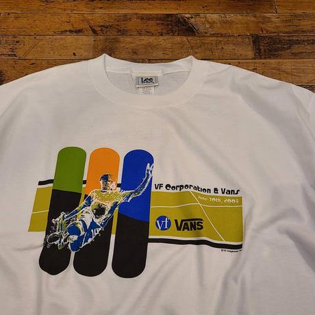"2004 ""VANS"" Short Sleeve Tee Dead Stock SIZE : XL"