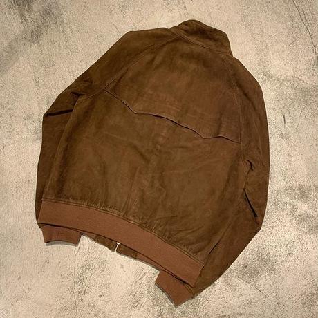 """1990's """"Ralph Lauren"""" G-9 Type Suede Jacket SIZE : L"""