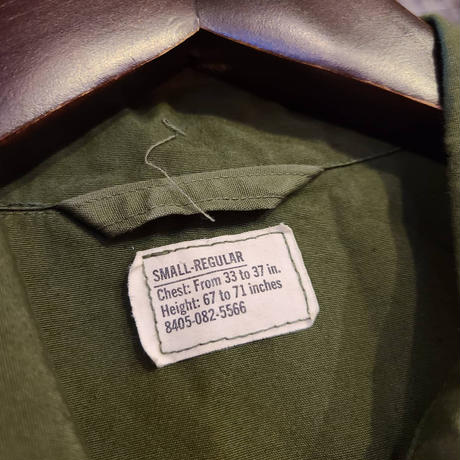 """1960's """"U.S.Military"""" Jungle Fatigue Jacket 3rd Type SIZE : S-R"""