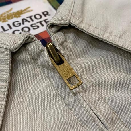 """1990's """"ALLIGATOR LACOSTE"""" Cotton Blouson SIZE : 42"""