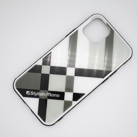 強化ガラス製スマートフォンケース(モノトーンブロック)