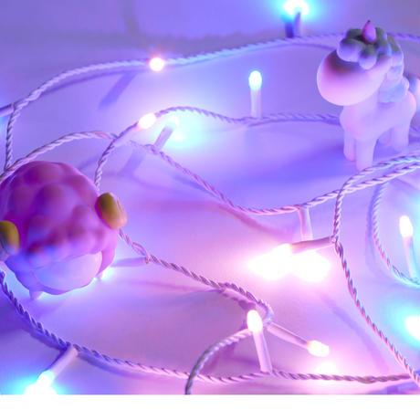 3mストリングスライト クリーミーブルー&ピンク                  (1年保証付き)