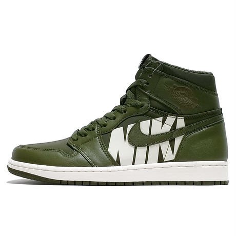 "NIKE AIR JORDAN 1 RETRO HIGH OG ""SWOOSH-OLIVE"" (555088 300)"