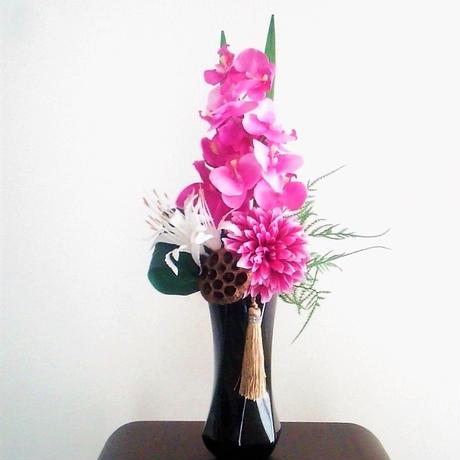 *新色【モダン 仏花】上質 お供え花 ピンクグラデーション *蝶花B23